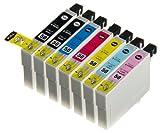 (7 色セット) InkHero Epson IC6CL50 エプソン 【互換インクカートリッジ 】 (プリンター カラリオ EP-302, EP-4004, EP-704A, EP-774A, EP-801A, EP-802A, EP-803A, EP-804A, EP-804AW, EP-901A, EP-904A, PM-A820, PM-A840, PM-A840S, PM-A920, PM-G4500, PM-G860, PM-T960)