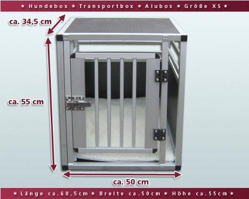 Hundebox-Alubox-Hundetransportbox-Autobox-Einlegematte-Inbus-Verschraubung-Gre-XS