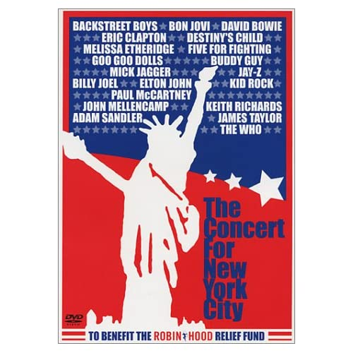 Various Artists - The Concert For New York City (David Bowie, Bon Jovi, Billy Joel, The Who, Mick Jagger, Paul McCartney, e.t.c.) [2001 г., Rock, DVD9]