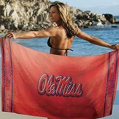 Buy Mississippi Rebels Beach Towel: 30x60 Fiber Reactive by McArthur