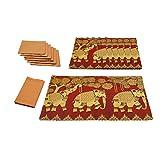 Elephant Grandiose Table Mat & Napkin Set