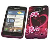 ITALKonline ProGel BLACK PINK HEART WHITE RED Super Hydro Gel TPU Protective Armour/Case/Skin/Cover/Shell for Samsung i9100 Galaxy S II S2