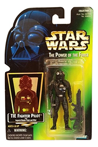 Star Wars The Power of the Force Action Figure - Tie Fighter Pilot - Green Ca...