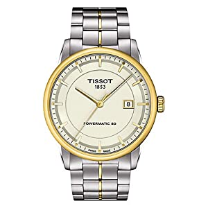 Tissot Powermatic 80 Ivory Dial Stainless Steel Mens Watch T0864072226100