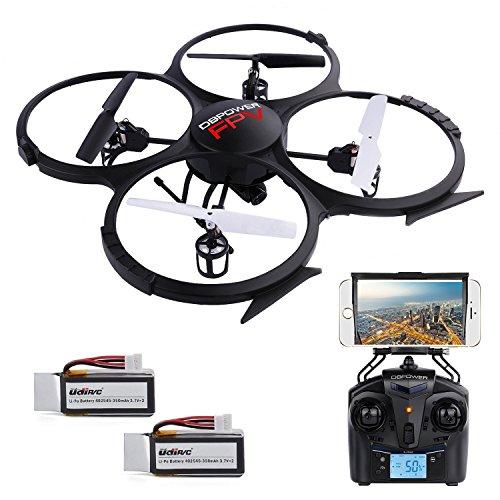 U818A Aggiornato WiFi FPV Di RC Drone Videocamera 2MP HD DBPOWER 2.4Ghz Quadcopter Gravità Induzione Senza Testa Modalità Allarme Di Bassa Tensione