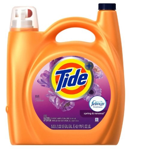 Tide Plus Febreze He Laundry Detergent, Spring & Renewal (170 Oz., 88 Loads)