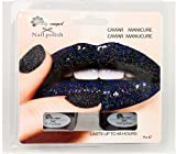Black gloss Caviar Manicure Set Rainbow Pearls, Black gloss or snow white ciate style
