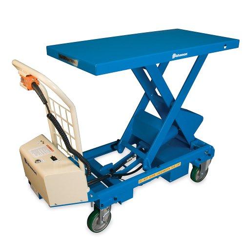 "Bishamon Mobilift Electric Scissors Lift Tables - 1100-Lb. Capacity - 17.2 - 40.4"" Lift Height"