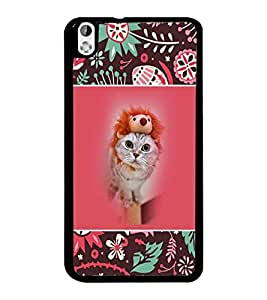 PrintDhaba Kittin D-5710 Back Case Cover for HTC DESIRE 816 (Multi-Coloured)