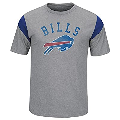 Buffalo Bills Men's Athletic Gray Pure Heritage Sueded Jersey T-shirt