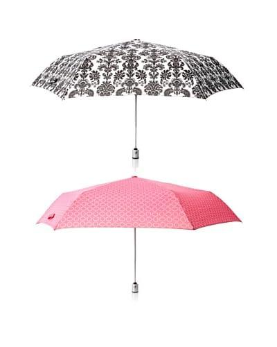 London Fog Women's 2-Pack Tiny Mini Auto Open/Close Umbrella Grandis/Opti
