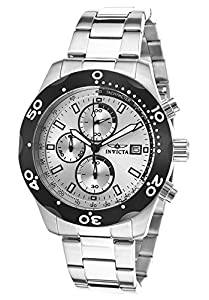 Invicta 17749 Men's Specialty Chronograph Stainless Steel Black Bezel Watch
