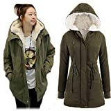 Viwenni Women's Coat Warm Long Sleeve Hoodie Jacket Fur Wool Overwear Parka 4-14 by NYC Leather Factory Outlet