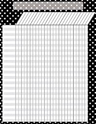 Teacher Created Resources Black Polka Dots Incentive Chart, Black (7604)
