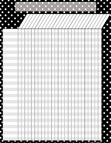 Teacher Created Resources Black Polka Dots Incentive Chart, Black (7604) (Dot Chart compare prices)