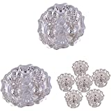 GS MUSEUM Silver Plated Rani Kumkum Plate 2 Sets And Silver Plated Set Of 6 Devdas Deepak