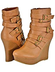 Bamboo Ceasar-26 Tan Women Ankle Boots