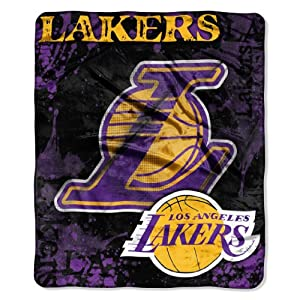 NBA Los Angeles Lakers Dropdown Royal Plush Raschel Throw Blanket, 50x60-Inch by Northwest
