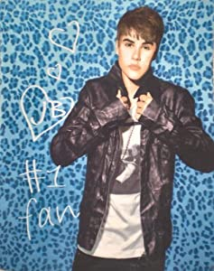 Justin Bieber Blue Leopard Fleece Throw Blanket