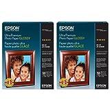 Epson 2x Ultra Premium Glossy, Heavy Weight Inkjet Photo Paper, 11.8 mil., 8.5x11