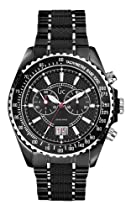 Hot Sale Mens GUESS COLLECTION GC Black Carbon Fiber Sport Swiss Chronograph Watch I46001G2