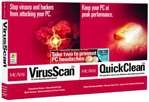 Mcafee Virusscan/Mcafee Quickclean Bundle front-709644
