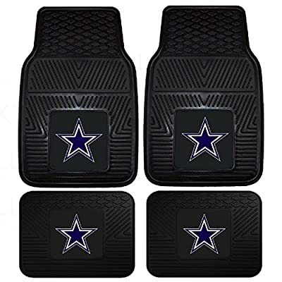 Front & Rear Car Truck SUV Floor Mats Heavy Duty Vinyl - NFL Football - Dallas Cowboys