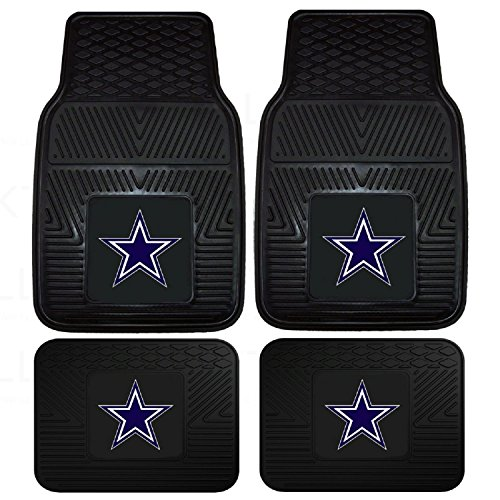 Front & Rear Car Truck SUV Floor Mats Heavy Duty Vinyl - NFL Football - Dallas Cowboys (Nfl Truck Accessories compare prices)