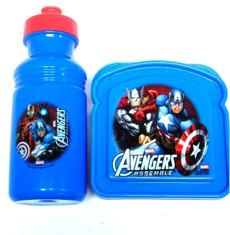 Avengers Lunch Sandwich Container Box with Water Bottle