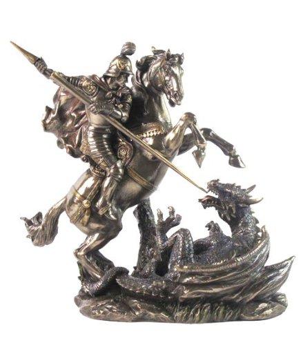 Saint St George on Horse Slaying Dragon 9 1/8