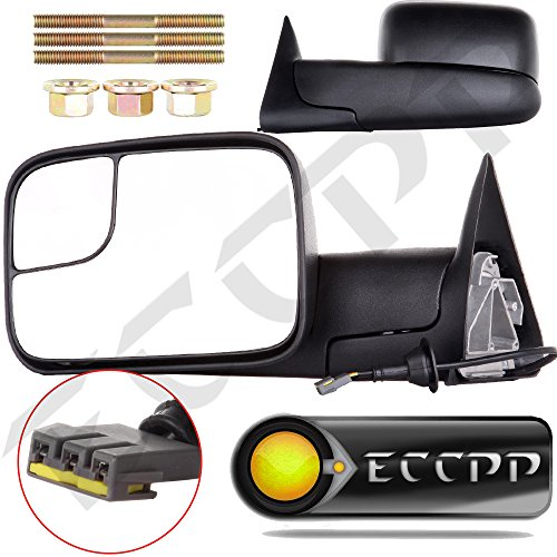 ECCPP® Towing Mirrors Dodge Ram Tow Mirrors Pair Power Operation Manual Folding For 1994-1997 Dodge Ram 1500 2500 3500 Truck 1994 1995 1996 1997 (Mirror For Dodge Ram 2500 compare prices)