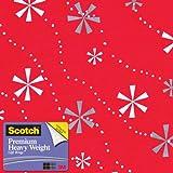 Scotch Gift Wrap, Snowflaked Stripes Pattern, 25-Square Feet, 30-Inch x 10-Feet (AM-WPSNS-12)