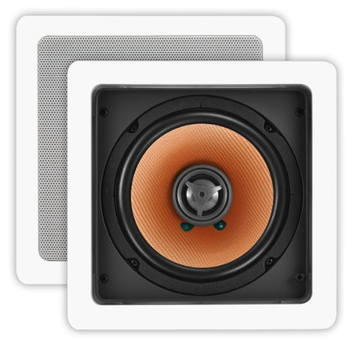 Osd Audio Cw640Sq White 6.5-Inch Poly Square In-Ceiling Or In-Wall Speaker Pair