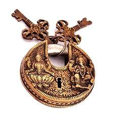 Vastu Antique Gold Look Goddess Lakshmi + Lord Ganesha