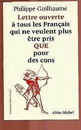 Lettre ouverte à tous les Français qui ne veulent plus être pris QUE pour des co