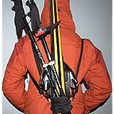 Strap to Carry Skis & Pole on Your Back ~ SkisOnBack