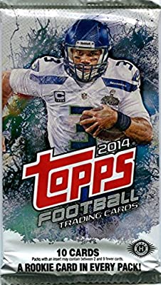Seattle Seahawks Gift Set - Lot 50 Assorted Seahawks (Russell Wilson) Football Trading Cards From the Past 25 Years and a Factory Sealed Pack of 2014 Topps Football (Look for Relic and Autograph Cards) Great Gift For Any Football Fan