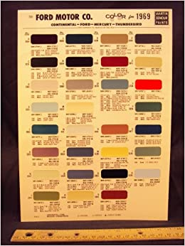 1969 ford motor company paint colors chip page ford motor. Black Bedroom Furniture Sets. Home Design Ideas