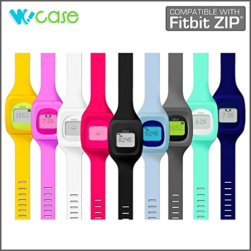 WoCase ZipBand Fitbit Zip Accessory Wristband Bracelet Collection (2015 Lastest Version, Bundled or Single Band) and Rainbow Pack Fasteners(SOLD SEPARATELY) for Fitbit Zip Activity and Sleep Tracker (Turn Your Fitbit Zip into Wearable FLEX/FORCE/CHAR
