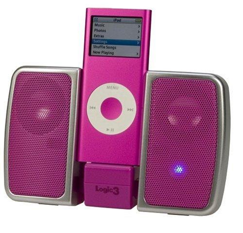 Logic3 i-Station Traveller - Portable Speakers For MP3 & iPod - Pink
