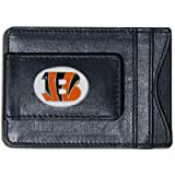 NFL Cincinnati Bengals Leather Money Clip & Card Holder