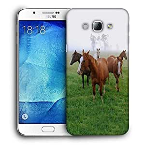 Snoogg Horses In Garden Printed Protective Phone Back Case Cover For Samsung Galaxy Note 5