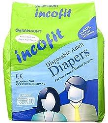 Incofit Premium Adult Diapers Large (Pack of 10)