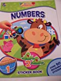 Educational My First Sticker Book ~ Numbers (Over 50 Reusable Stickers) by Phidal