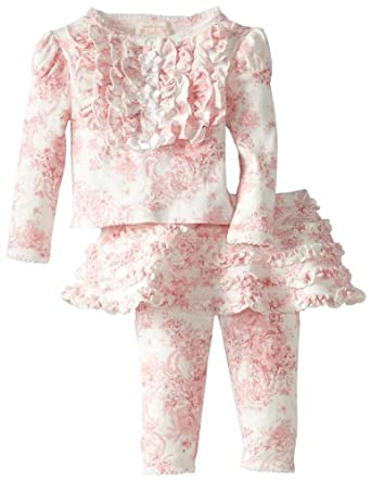Amazon.com: Biscotti Baby-Girls Newborn Victorian Rose Long Sleeve Top