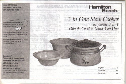 Hamilton Beach Slow Cooker Manual