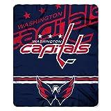 NHL Washington Capitals Fade Away Printed Fleece Throw, 50-inch by 60-inch