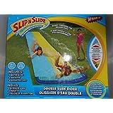 Double Surf Rider Water Slide! Wham-o Slip N Slide Blast Through Splash Pool Wall Of Water On The Bu