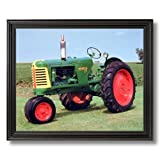 1953 Oliver Crop Farm Tractor Home Decor Wall Picture Black Framed Art Print