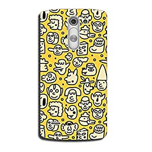 Mozine Faces Pattern Printed Mobile Back Cover For LG G3 Stylus